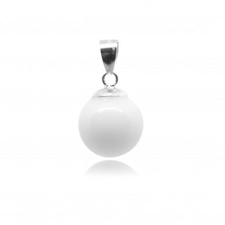 Collier avec pendentif simple et perle contenant votre lait maternel C12