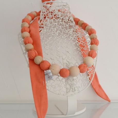 Collier d'allaitement et de portage tissu corail uni (CP16)
