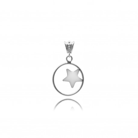 Collier avec étoile en argent contenant votre lait maternel C28