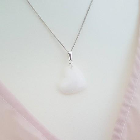 Perle de forme coeur/goutte ou anneau contenant votre lait maternel