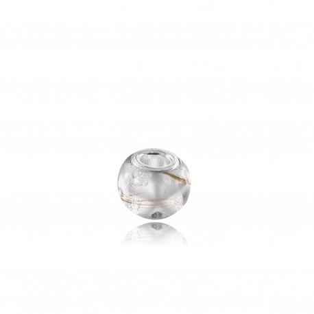 Perle adaptable Pandora avec étoile colorée et mèches de cheveux