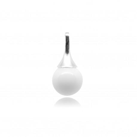 Collier avec pendentif fine goutte et perle contenant votre lait maternel C09