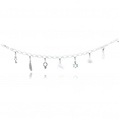 Bracelet chaîne anneaux larges pour y accrocher vos charms