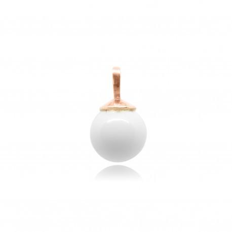 Collier simple en plaqué or rose contenant votre lait maternel C24